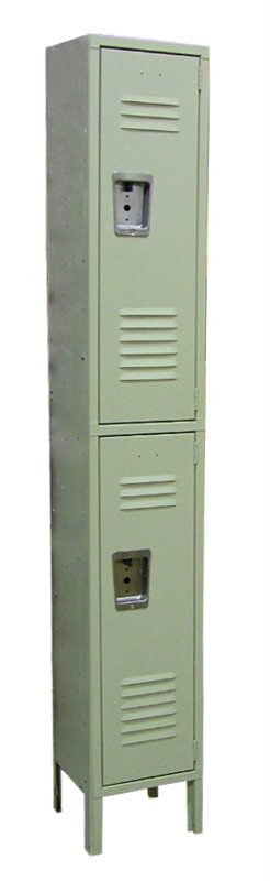 OMCAN Heavy-Duty 2-Tier Steel Security Locker