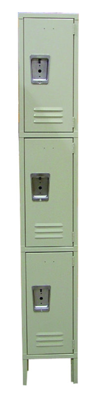 OMCAN Heavy-Duty 3-Tier Steel Security Locker