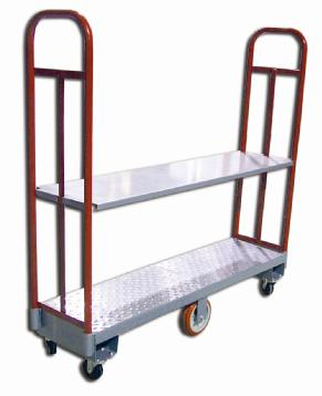 OMCAN 2500LB Capacity Heavy-Duty Steel Utility Cart with Shelf