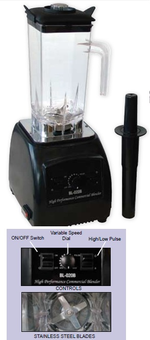 OMCAN 2.0hp 2.0QT Commercial Blender