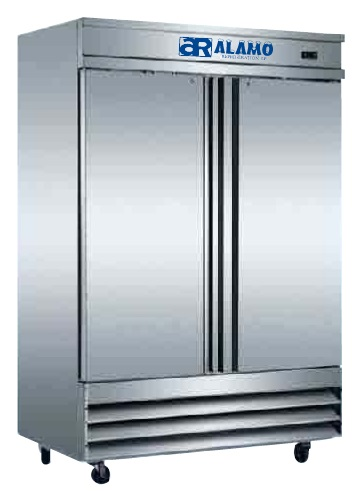 Alamo 46cf Commercial 2-Door Stainless Reach-in Freezer