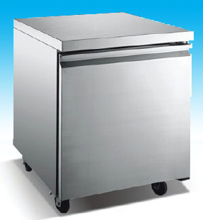 "OMCAN 27"" 5.5cf 1-Door Stainless Commercial Undercounter Freezer (PREMIUM edition)"