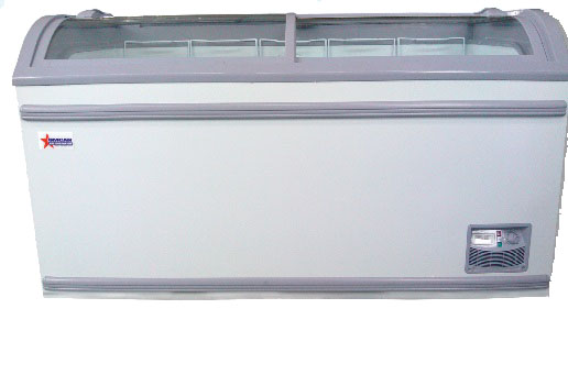 OMCAN 17.7cf 58in-wide Commercial Glass Display Ice Cream Freezer