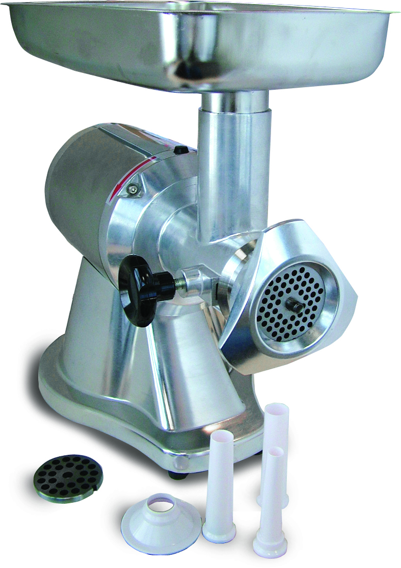 OMCAN Polished Aluminum Commercial 1.0hp Electric Meat Grinder
