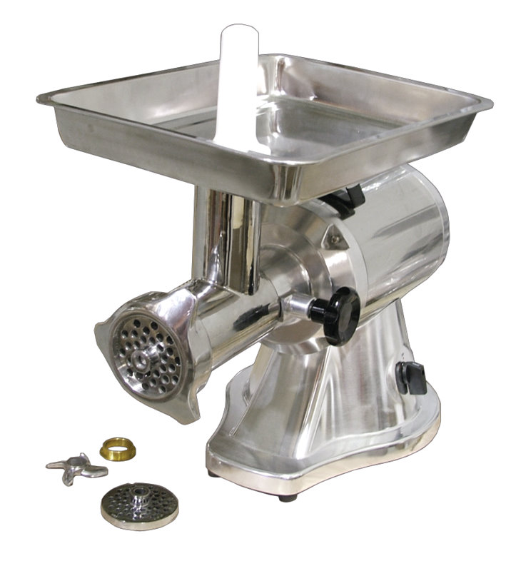 OMCAN #22 Polished Aluminum Commercial Electric 1.5hp Meat Grinder
