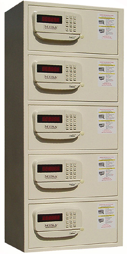 Mesa MH105D 5-Stack Hotel Style Security Safe