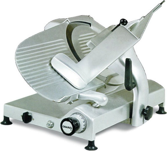 Omas 13in Gear-Driven Commercial Deli Meat & Cheese Slicer