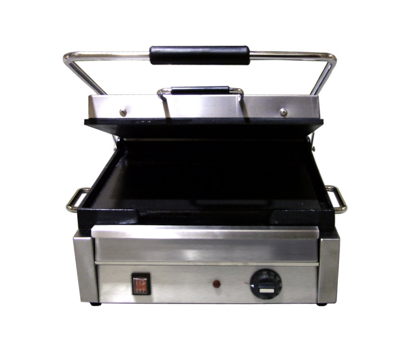 OMCAN Stainless 15in Commercial Electric Sandwich & Pita Grill (Flat Plates)