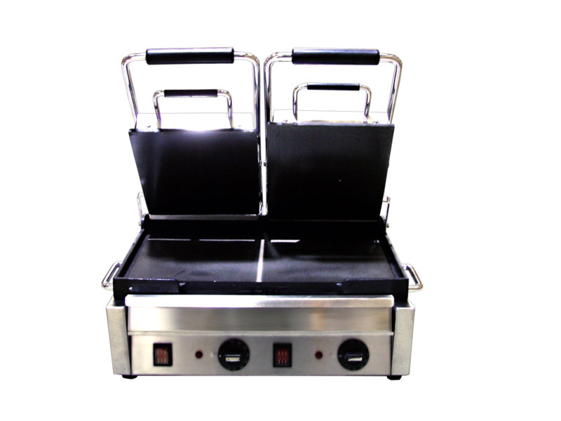 OMCAN Stainless 18in Commercial Electric Sandwich & Pita Grill (Flat Plates)