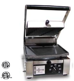 OMCAN Half-Ribbed Half-Flat Commercial Panini Sandwich Grill MADE IN ITALY