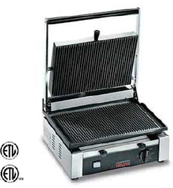 OMCAN Double-Ribbed Commercial Panini Sandwich Grill MADE IN ITALY
