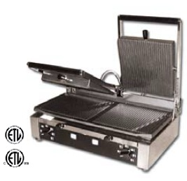 OMCAN Double-Ribbed DUAL Commercial Panini Sandwich Grill MADE IN ITALY