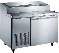 "Alamo 50""W 1-Door Commercial Refrigerated Pizza Prep Table"
