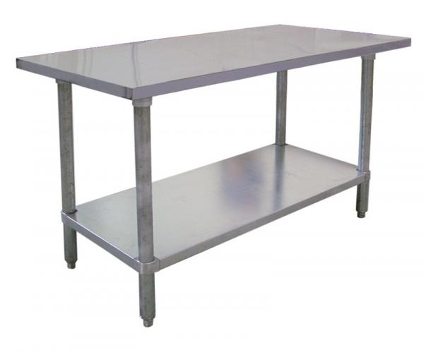 30 x 72 Commercial Straight-Edge Stainless Steel Table