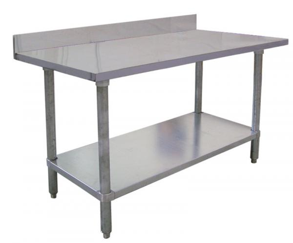 30 x 84 Commercial Stainless Steel Table with Backsplash