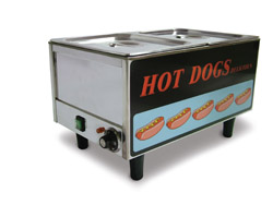 Table Top Commercial Hot Dog Steamer & Bun Warmer