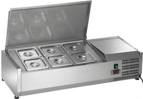 "Arctic Air 40"" 6-Pan Counter-Top Refrigerated Prep Station"