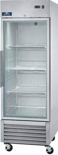 Arctic Air 23cf 1-Door Commercial Glass-Door Display Cooler Refrigerator