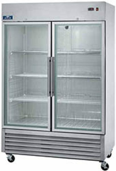Arctic Air 49cf 2-Door Commercial Glass-Door Display Cooler Refrigerator