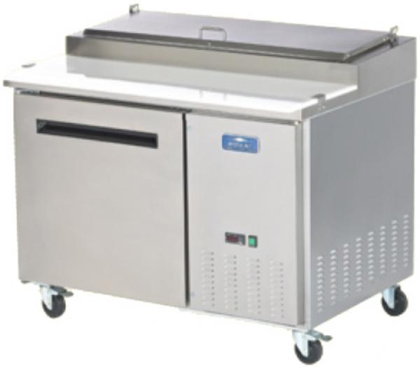 "Arctic Air 48""W Stainless Commercial Refrigerated Pizza Prep Table"