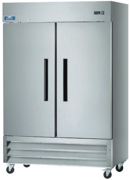 Arctic Air 49cf 2-Door Stainless Commercial Reach-In Cooler Refrigerator