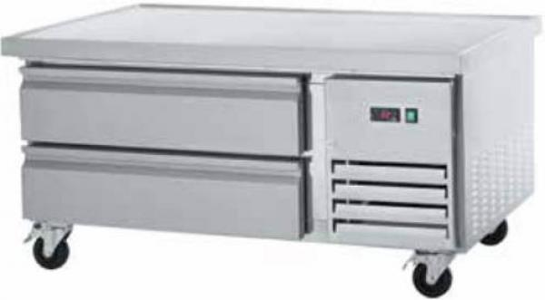 "Arctic Air 50"" 2-Drawer Commercial Stainless Refrigerated Chef Base"