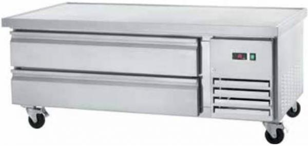 "Arctic Air 62"" 2-Drawer Commercial Stainless Refrigerated Chef Base"