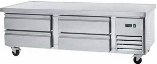 "Arctic Air 74"" 4-Drawer Commercial Stainless Refrigerated Chef Base"