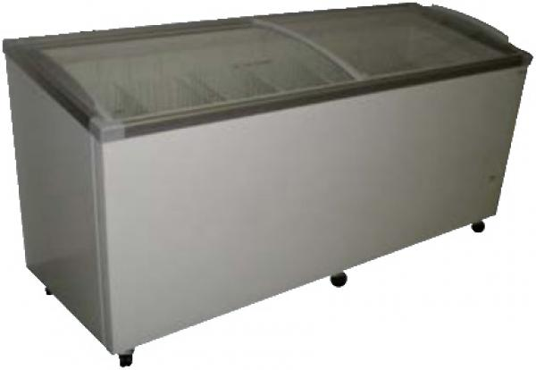 Fricon 59in 14.1cf Angled Glass-Top Commercial Chest Deep Freezer