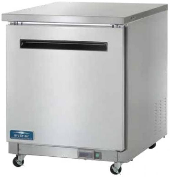 Arctic Air 6.5cf 1-Door Stainless Commercial Undercounter Worktop Freezer