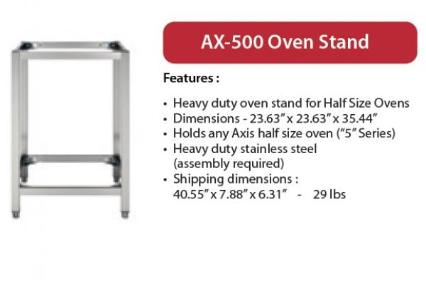 Axis 5-Series Half-Size Oven Stand