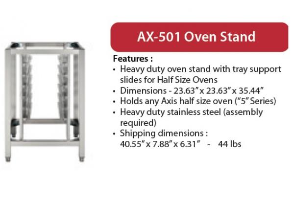 Axis 5-Series Half-Size Oven Stand w/Tray Slides