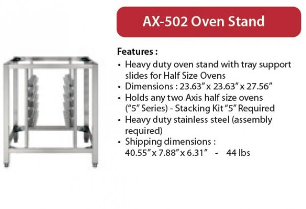 Axis DOUBLE 5-Series Half-Size Oven Stand w/Tray Slides