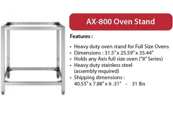 Axis 8-Series Full-Size Oven Stand