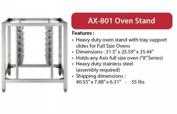 Axis 8-Series Full-Size Oven Stand w/Tray Slides