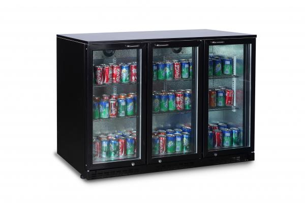 Alamo 11.3cf 3-Glass Door Commercial Back Bar Cooler