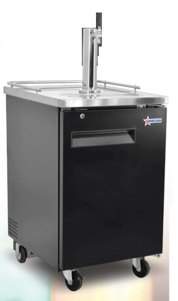 "OMCAN 24"" 1-Door 1-Tower Commercial Bar Beer Kegerator Cooler"