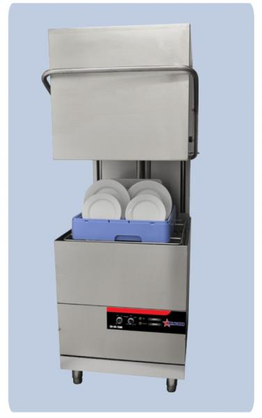 OMCAN HIGH-Temp Door-Lift Upright Commercial Dishwasher