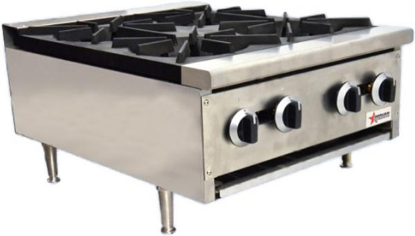 OMCAN 24in 100,000 BTU Commercial Hot Plate Stove (Natural Gas or LP)