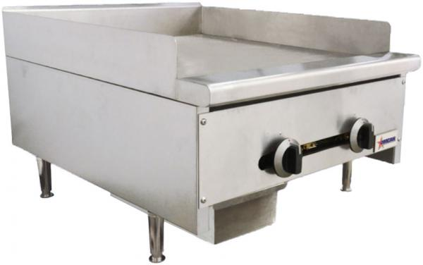 OMCAN 24in 56,000 BTU Commercial Griddle (Natural Gas or LP)