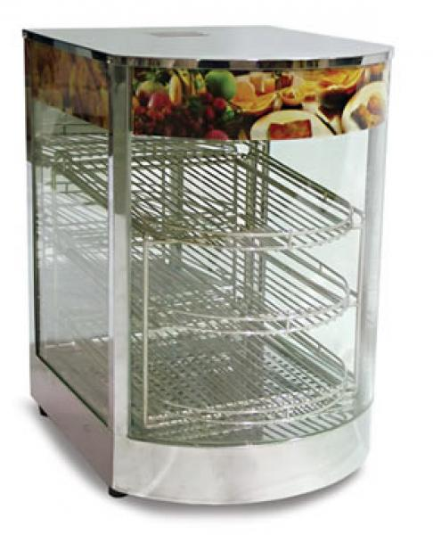 Glass Concession Heated Food Merchandiser Warmer