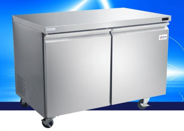 "OMCAN 47"" 11.2cf 2-Door Stainless Commercial Undercounter Freezer (PREMIUM edition)"