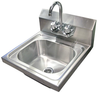 Stainless Steel Hand-Washing Sink: Discount Commercial Kitchen ...