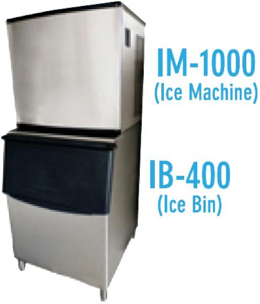 Alamo 1000 lb/day Commercial Ice Cube Maker Machine w/Ice Bin