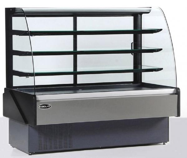 "KOOL-IT 52""W x 54""H 18cf Refrigerated Curved Glass Bakery Display Case (Made in Europe)"