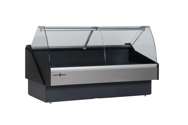 "HydraKool 101""W x 47""H Refrigerated Curved Glass Deli Display Case"