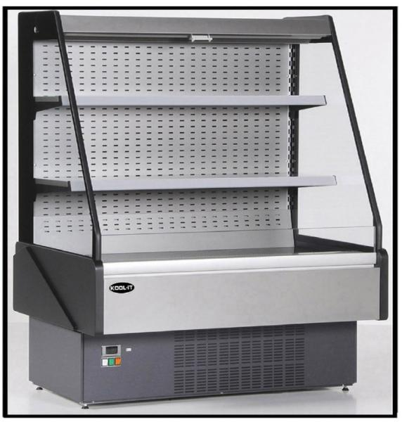 "KOOL-IT 57""W x 60""H Open Air Grab and Go Refrigerated Merchandiser Display Case"