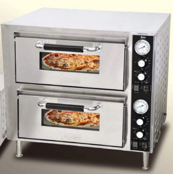 "OMCAN 240V 18"" Dual Chamber Countertop Pizza & Baking Oven"