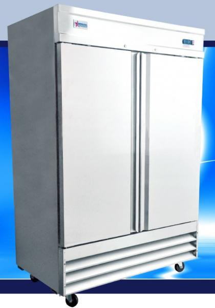 OMCAN 41cf 2-Door Stainless Commercial Reach-in Cooler Refrigerator (PREMIUM edition)