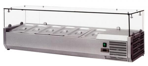 OMCAN 48in European Topping Rail Refrigerated Pizza Prep Table Top